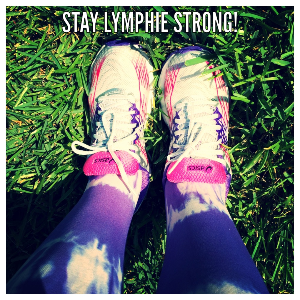 Stay Lymphie Strong Shoes in Grass